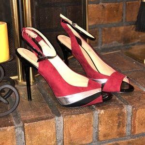 GX Gwen Stefani Red Black Shika Tall Slim Heels